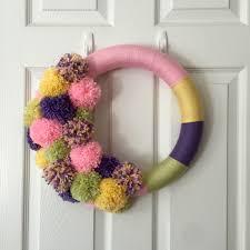 Spring Wreath Ideas Pom Pom Wreath Modern Spring Wreath Modern Easter Wreath