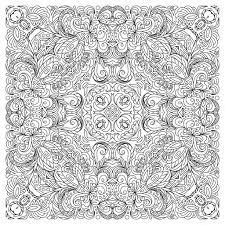 tappeto disegno pagina quadrata libro da colorare per adulti disegno floreale