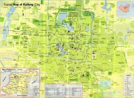 Travel Maps Detailed Travel Map Of Kaifeng Henan China