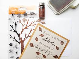 diy invitations diy invitations for a fall wedding fiskars