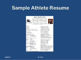 Sample Athletic Resume by 2014 St Mary U0027s Presentation 1