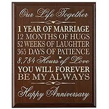 1st anniversary gifts for 1st wedding anniversary wall plaque gifts for