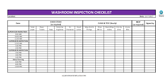 Inspection Checklist Template Excel Free Toilet Cleaning Checklist Excel Templates At
