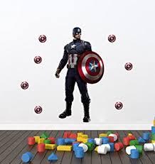 Captain America Bedroom by Buy Creatick Studio U0027wall Stickers For Bedroom Kitchen U0027 U0027captain
