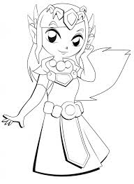 dessin ã colorier zelda twilight princess