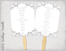 cardstock for wedding programs wedding fan program template antique lace gray diy order of