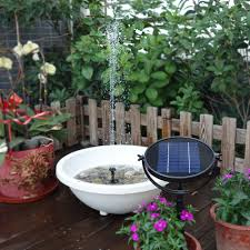 solar power water floating fountain pump pool garden images with