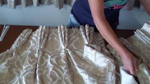 hanging pinch pleat curtains instructions three pleat how to make triple pinch pleat curtains youtube