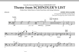 theme schindler s list cello theme from schindler s list cello sheet music at stanton s sheet