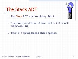 dispense java stacks presentation for use with the textbook data structures and