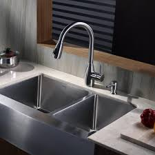 Kraus Kitchen Faucet Kraus Khf20333kpf2130sd20 33 Inch Stainless Steel 70 30 Double