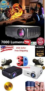 3d hd projectors for home theater home theater projectors 7000 lumens led projector home theater