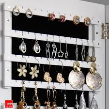jewelry box wall mounted cabinet wooden wall mount mirrored jewellery box cabinet white colour