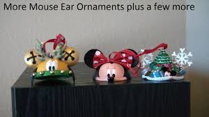 more mouse ear hat ornaments and mouse ornaments