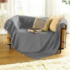 extra large cotton sofa throws herringbone throw ebay