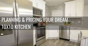 kitchen cabinet design dimensions planning and pricing your 10x10 kitchen