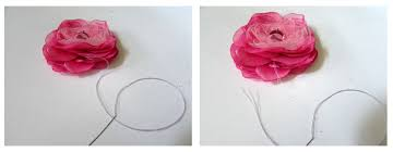 silk flowers silk flower necklace tutorial