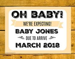 expecting sign etsy