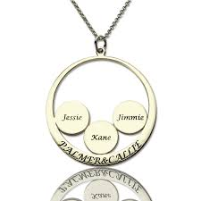 Personalized Name Pendant Moms Gifts Personalized Family Name Pendant For Mom Silver