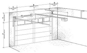 Overhead Door Clearance Sectional Garage Door Clearances
