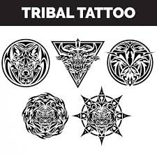 tribal tattoos collection vector free