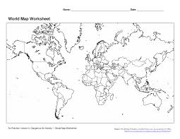 Blank Map Of Africa Quiz by World Map Worksheets Worksheets For Dropwin