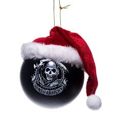 sons of anarchy christmas bulb tree ornament retrofestive ca