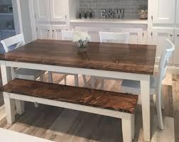 farmhouse kitchen furniture bench farmhouse kitchen table with bench for etsy farmhouse kitchen