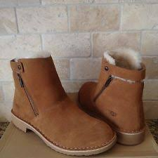 womens black ankle ugg boots ugg kayel black leather sheepskin chelsea ankle boots us 8 eur
