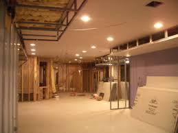 low ceiling basement lighting ideas about ceiling tile