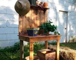 Wooden Potting Benches Potting Table Etsy