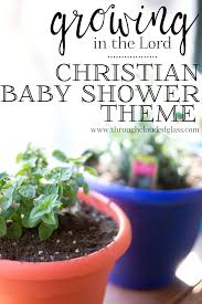 christian baby shower baby shower theme ideas through clouded glass