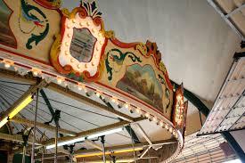 file kiddieland amusement park carousel top jpg wikimedia commons
