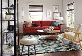 Room And Board Leather Sofa Artisan Crafted Red White U0026 Blue Room U0026 Board