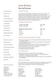 Resume Samples For Server Position by Download Barback Resume Haadyaooverbayresort Com