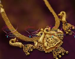 ethnic gold necklace images Nl6591 antique nagas temple ethnic jewellery handmade gold design JPG