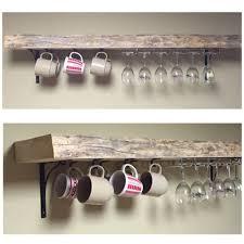 red pine shelf with wine racks and coffee mug hooks jpeg