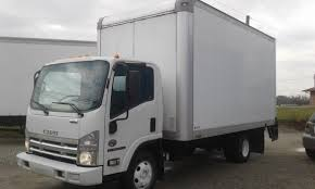 isuzu npr diesel 16 box with liftgate cars for sale