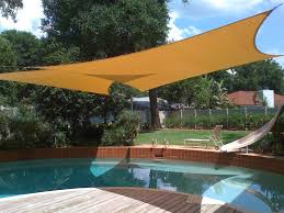 our tensioned fabric shades provide a sun screening cooling