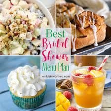 best bridal shower best bridal shower menu plan kleinworth co