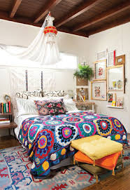 Hippie Bohemian Bedroom Excellent Bohemian Bedroom White Hippie Modern White Curtains