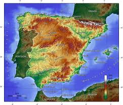 Map Of Spain by Physical Map Of Spain Spain Physical Map Vidiani Com Maps Of