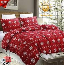 Christmas Duvet Cover Sets Christmas Snowflake Lightweight Microfiber Duvet Cover Set Full
