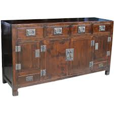 Dark Brown Changing Table by Chinese Sideboard