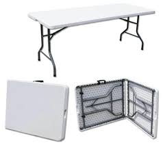 6ft Banquet Table by Heavy Duty Folding Table 6ft Camping Picnic Banquet Party Garden