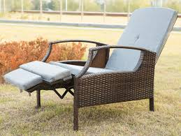 Outdoor Recliner Chairs Chair Merax Outdoor Wicker Patio Adjustable Recliner Lounge With