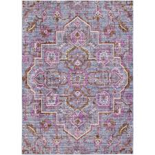 purple and pink area rugs surya germili purple 2 ft x 3 ft indoor area rug ger2317 23