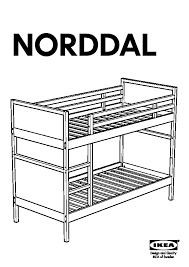 NORDDAL Bunk Bed Frame Black IKEA United States IKEAPEDIA - Ikea bunk bed assembly instructions