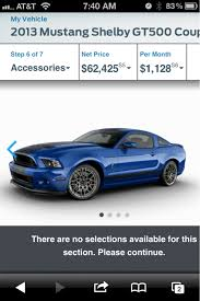 2013 mustang shelby gt500 price 2013 mustang build and price is up gt500 msrp 54 995 the