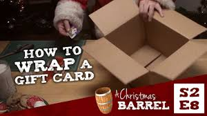 how to wrap a gift card youtube